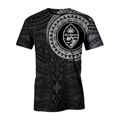 Guam Coat Of Arms Polynesian Tattoo Style all over print