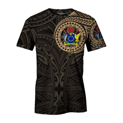 Escudo De Cook Islands Gold all over print - luxamz