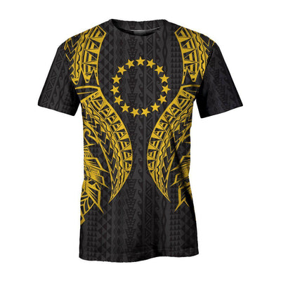 Cook islands Polynesian Lion Head Gold Style All Over Print - luxamz