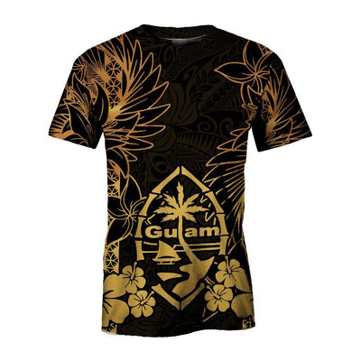 Guam Polynesian Gold Turtle Homeland All Over Print - luxamz