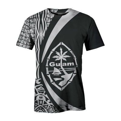 Guam Polynesian Tribal Circle Style White Color all over print