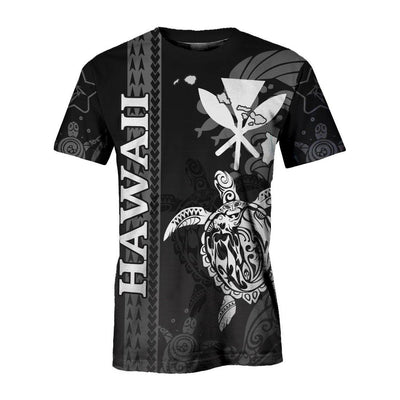 Polynesian Hawaii Turtle lover  Eternity Black color all Over Print