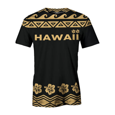 Hawaii Turtle Tribal Hibiscus Pattern all over print