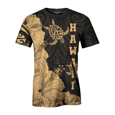 Hawaii Turtle Clothing Polynesian Hibiscus Art all over print - luxamz