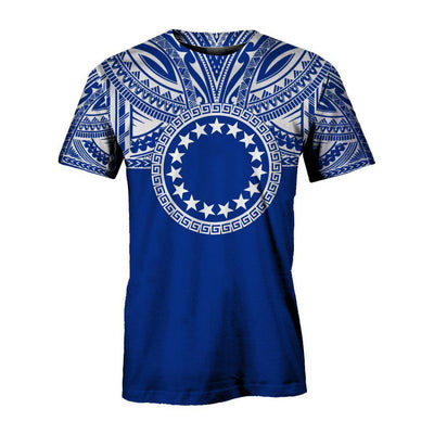 Cook Islands Polynesian Flag Color royal blue All Over Print