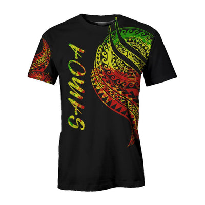 Samoa Polynesian cultural Black with pattern All Over Print - luxamz