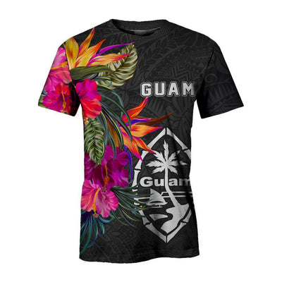 Guam Hibiscus Pattern all over print - luxamz