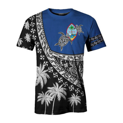 Guam Polynesian Turtle, Tropical All Over Printed