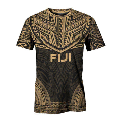 FiJi Polynesian Chief Gold all over print - luxamz