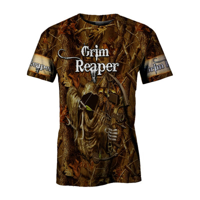 Grim Reaper Hunting All Over PrintT Shirts for Men and Women - luxamz