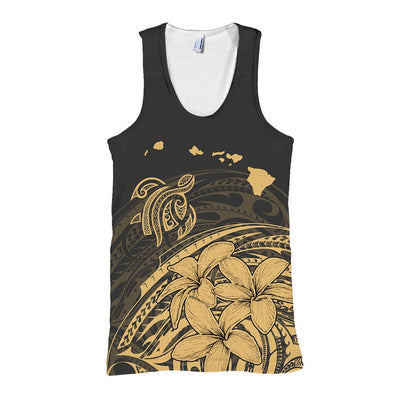 Hawaiian Map Turtle And Plumeria Polynesian all over print
