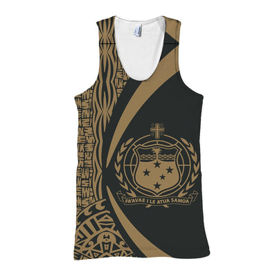 Samoa Polynesian Circle Style Gold Color all over print