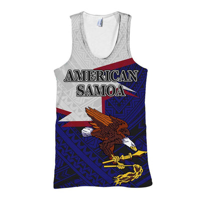 American Samoa Eagle Blue all over print