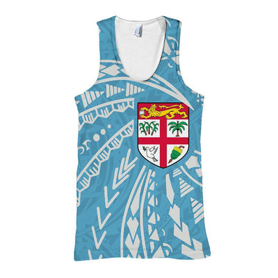 Fiji Flag Swirling Style All Over Print