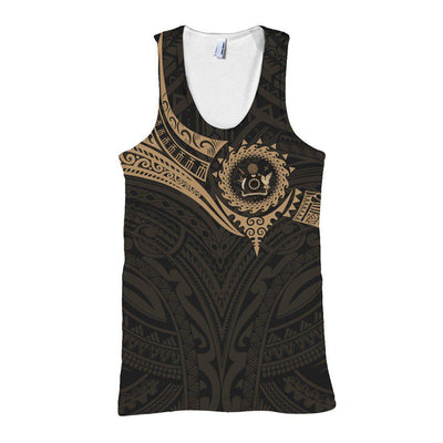 Cook Islands Polynesian Gold Heart Shield all over print - luxamz