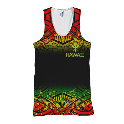 Hawaii Polynesian Turtle Tattoo Fog Reggae All Over Print - luxamz