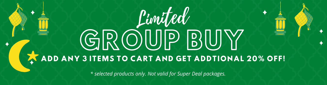 Limited Group Buy | Buy 3 and get additional 20% Off