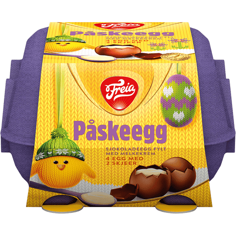 Freia Easter Eggs (Påskeegg) 4 pcs 136 grams