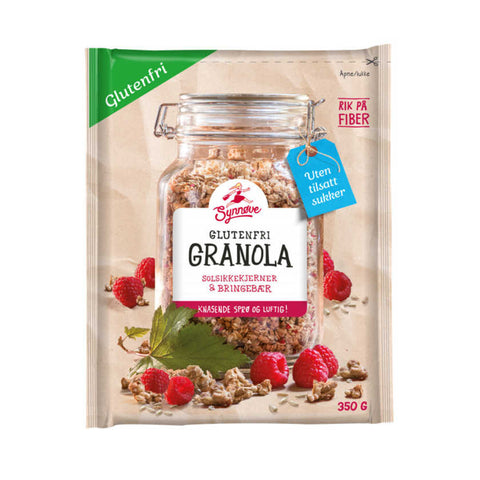 Synnøve Glutenfree Granola with Raspberry 350 grams