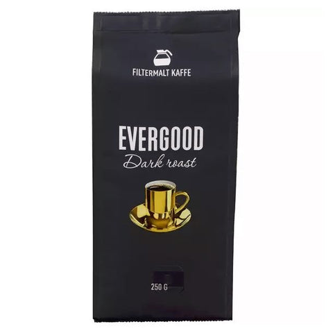 Evergood dark roast filter ground coffee 250 gram