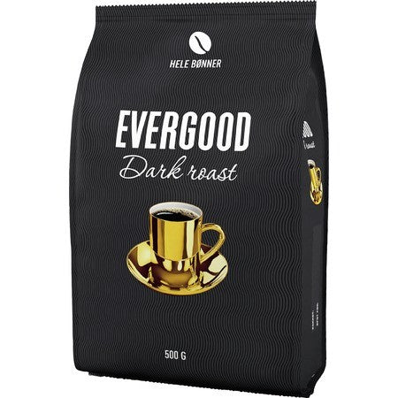 Evergood dark roast coffee beans 500 gram