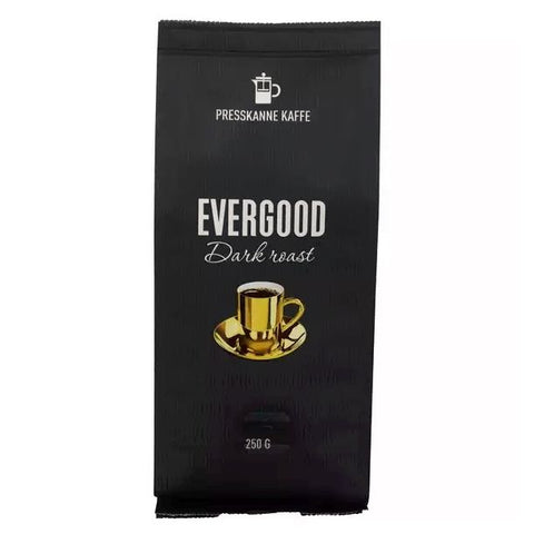 Evergood dark roast press-ground coffee 250 gram