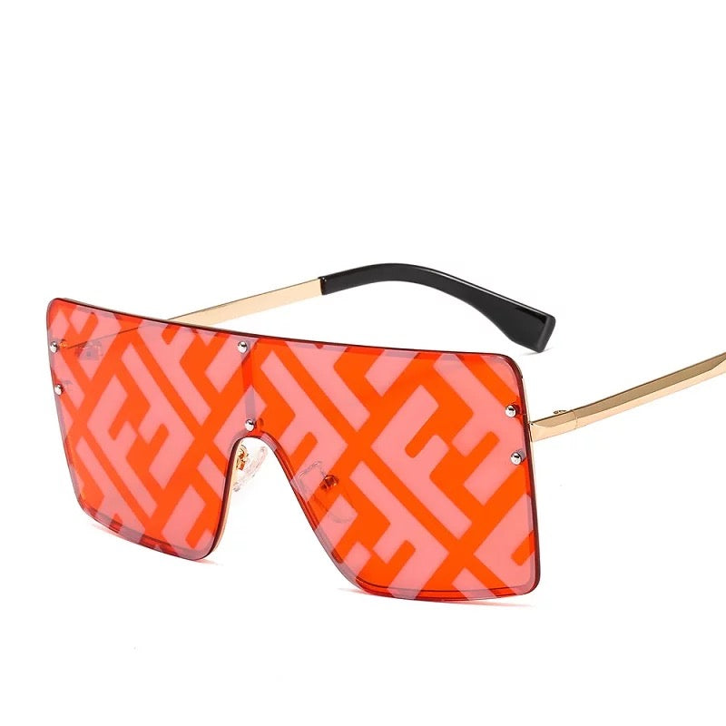Big Shades Mirror Flat Top FF Sunglasses