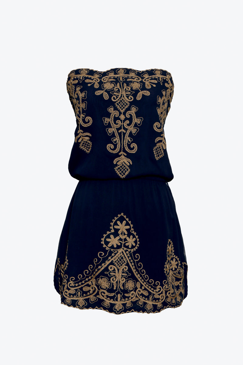 GODDESS SILK SHORT DRESS