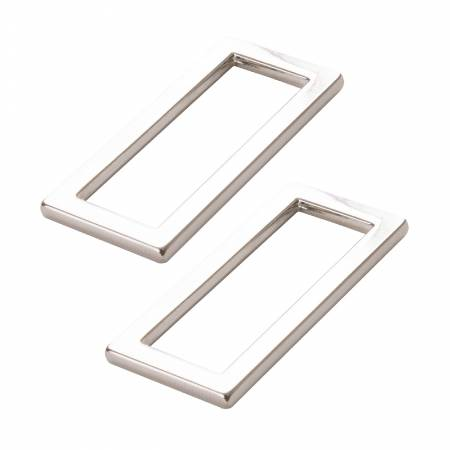 "1.5"" Flat Rectangle Nickel Rings Set of 2"
