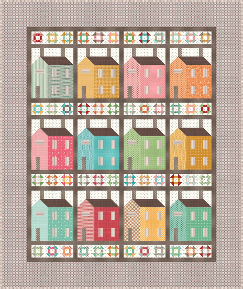 Prim Village Quilt Kit
