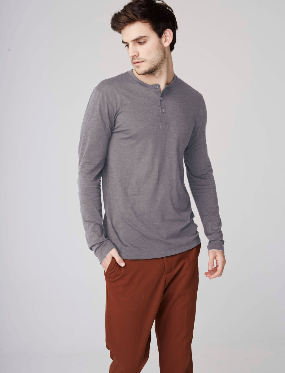 'Misti' Long Sleeve Henley