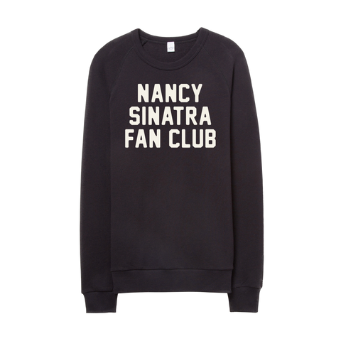 Nancy Sinatra Fan Club Collection Black Fleece Pullover
