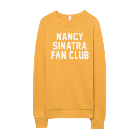 Nancy Sinatra Fan Club Collection Gold Fleece Pullover
