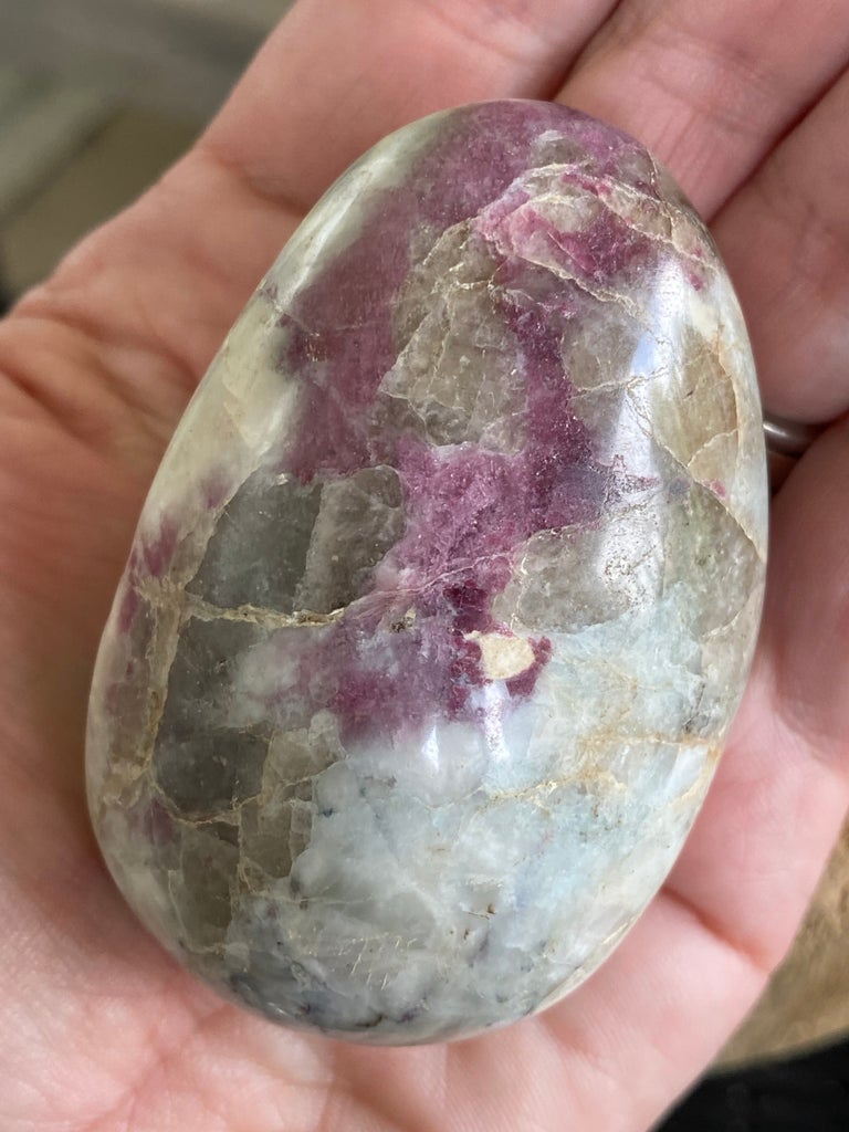 Medium Pink Tourmaline palm stones