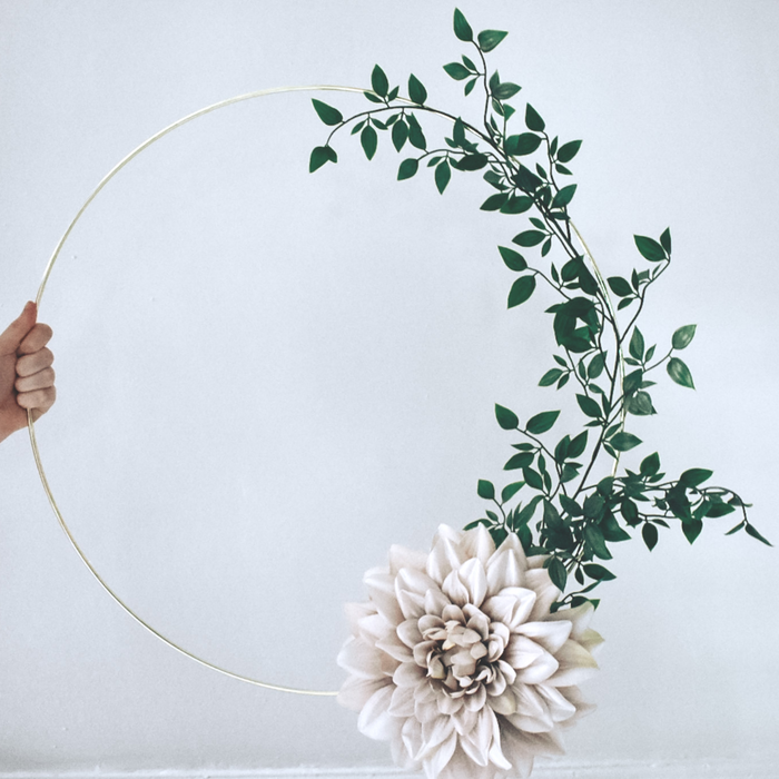 Simply Contemporary Floral Hoops  are available from our Online Creative Studio here at A Little Cup of Helen. We pride ourselves on bringing your ideas to life.  These Large 50cm in diameter Bespoke Floral Hoops are sure to give your home the wow factor.