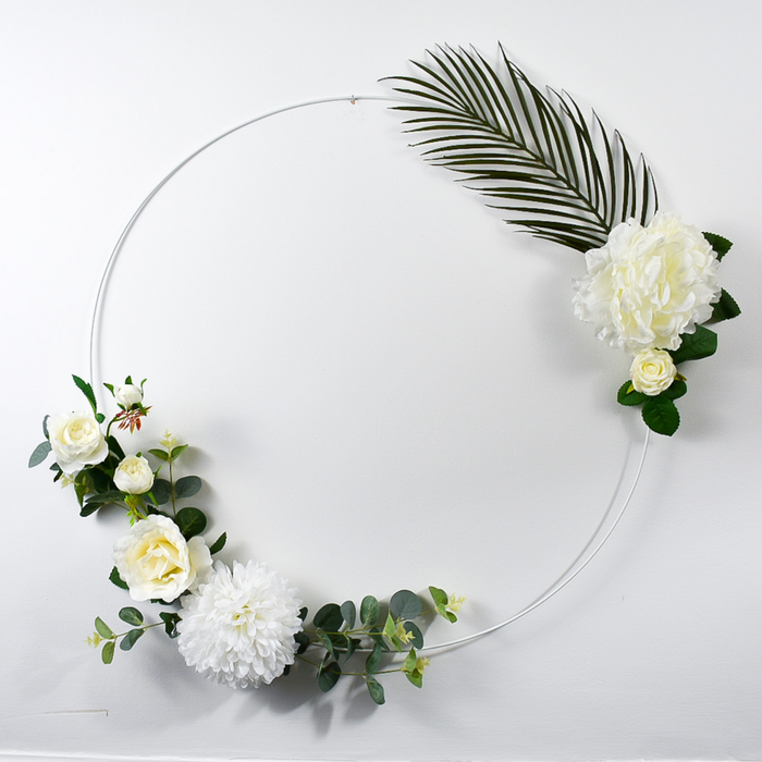 The Wow Factor Floral Hoops are available from our Online Creative Studio here at A Little Cup of Helen. We pride ourselves on bringing your ideas to life.  These Large 50cm in diameter Bespoke Floral Hoops are sure to give your home the wow factor.