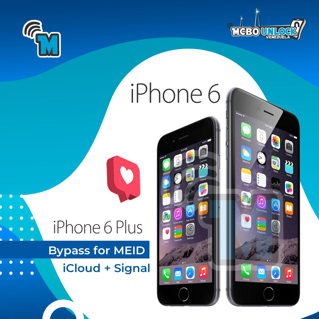 Bypass for MEID iCloud + Signal. 6/6 plus