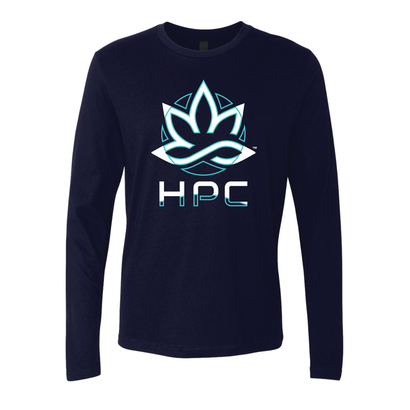 HPC ART DECO NAVY BLUE LONG SLEEVE T-SHIRT