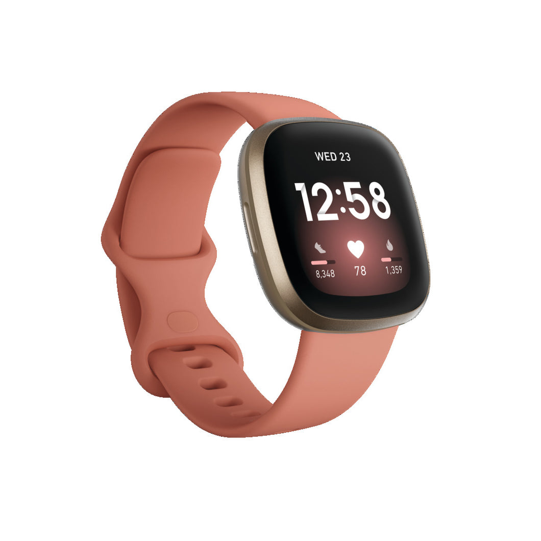 Fitbit Versa 3 Pink Clay/Soft Gold