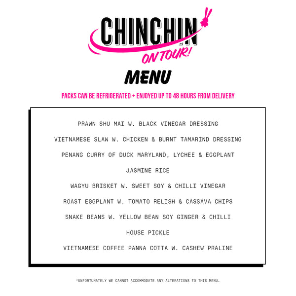 CHIN CHIN MAKE ME FEED ME (SERVES TWO)