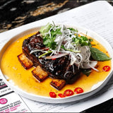 TWICE COOKED BEEF SHORT RIB W SHAVED COCONUT SALAD & PRIK NAHM PLA
