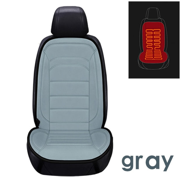 12V Heated Car Seat Cover - Gadgetir