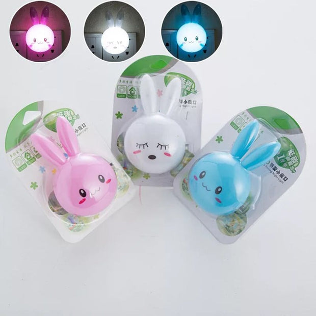 Cartoon Rabbit LED Night Light Bedroom Lamp - Gadgetir
