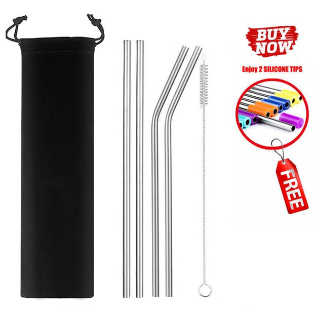Colorful Reusable Drinking Straw - Gadgetir