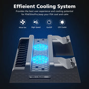 Vertical Cooling Stand Charging Station - Gadgetir
