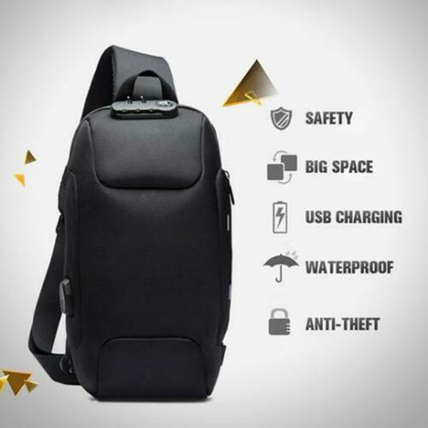 Anti-Theft Backpack With 3-Digit Lock - Gadgetir