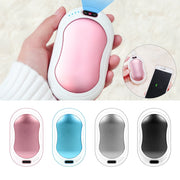 10000mAh 4 In 1 USB Rechargeable Hand Warmer Power Bank - Gadgetir