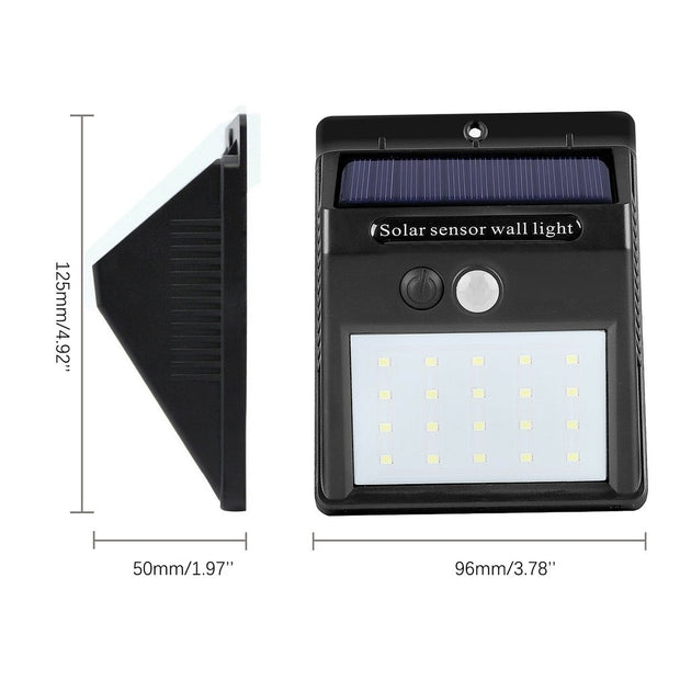 Waterproof 20 LED Solar Lights Motion Sensor Wall Light - Gadgetir