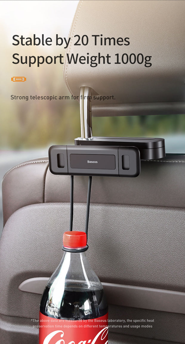 Car BackSeat Phone Holder 360° Rotation - Gadgetir