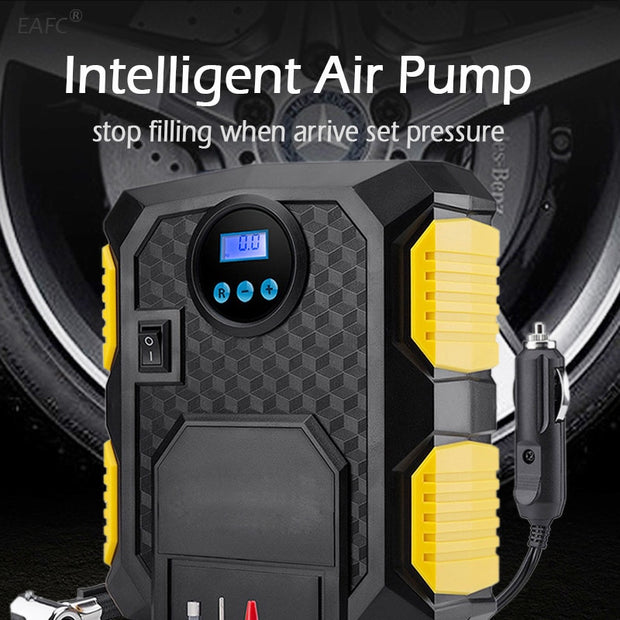 Digital Tire Inflator Air Compressor Pump - Gadgetir